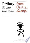 Tertiary Frogs From Central Europe Book