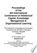 Icickm2011 Proceedings Of The 8th International Conference On Intellectual Capital Knowledge Management Organisational Learning Book PDF