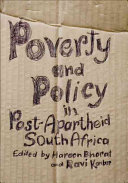 Poverty and Policy in Post apartheid South Africa