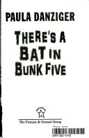 Cat Ate My Gymsuit/ There's a Bat Bunk Five Flip Book