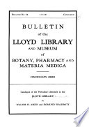 Catalogue of the Periodical Literature in the Lloyd Library