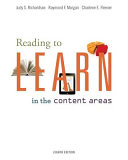 Reading to Learn in the Content Areas Book
