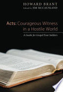 Acts: Courageous Witness in a Hostile World