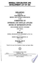 Mineral Exploration and Development Act of 1991