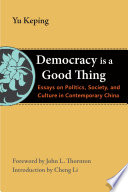 Democracy Is A Good Thing Book PDF