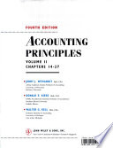 Accounting Principles, Chapters 14-27