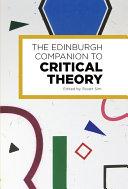 Pdf Edinburgh Companion to Critical Theory Telecharger