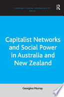 Capitalist Networks And Social Power In Australia And New Zealand