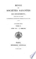 Revue des Sociétés Savantes de la France et de l'Étranger  , Volume 28