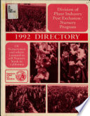 Directory of Nurserymen and Others Licensed to Sell Nursery Stock in California, and Summary of Laws and Regulations