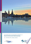 Proceedings of the 1st International Conference on Natural and Biomimetic Mechanosensing