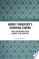 Andrei Tarkovsky s Sounding Cinema Book