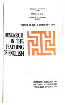 Research In The Teaching Of English