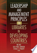 Leadership and Management Principles in Libraries in Developing Countries Book