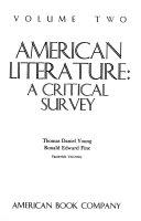 American Literature  a Critical Survey