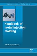 Handbook of Metal Injection Molding Pdf/ePub eBook