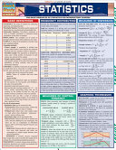 Statistics, Quick Reference Guide