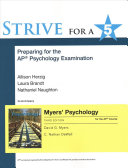 Strive for a 5  Preparing for the AP  Psychology Exam  Myers AP