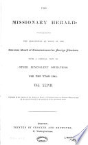 The Missionary Herald For The Year 1841