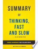 Thinking  Fast and Slow  by Daniel Kahneman   Summary   Analysis Book