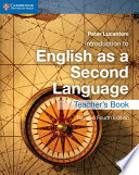 Introduction To English As A Second Language Teacher S Book