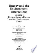 Perspectives on energy and the environment