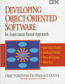 Developing Object oriented Software