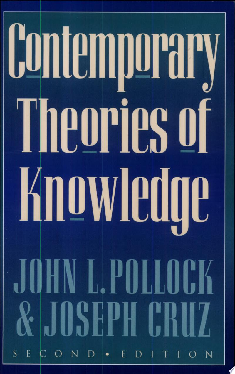 Contemporary Theories of Knowledge banner backdrop