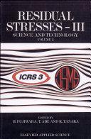 Residual Stresses-III