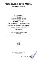Fiscal Relations In The American Federal System
