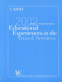 2002 Guide To The Evaluation Of Educational Experiences In The Armed Services Book PDF