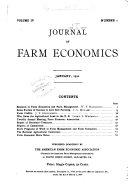 Journal Of Farm Economics