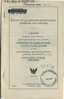 Review of U.S. Refugee Resettlement Programs and Policies