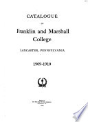 Franklin and Marshall College Catalog