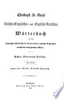 Dictionary of the English and German Languages  German and English