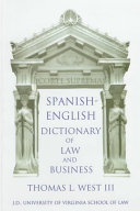 Spanish-English Dictionary of Law and Business