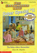 Babysitters Club Remember  11 Book PDF