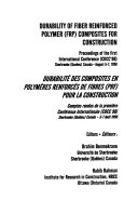 Durability of Fiber Reinforced Polymer  FRP  Composites for Construction