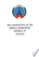 The Constitution of the People s Democratic Republic of Ethiopia Book PDF