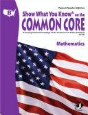 SWYK on the Common Core Math Gr  8  Parent Teacher Edition