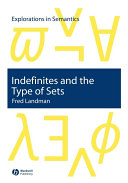 Indefinites and the Type of Sets ebook