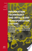 Information Technology And Intelligent Transportation Systems Book PDF