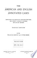 Annotated Cases, American and English