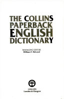 The Collins Paperback English Dictionary