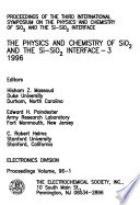The Physics and Chemistry of SiO2 and the Si-SiO2 Interface-3, 1996
