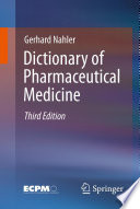 Dictionary Of Pharmaceutical Medicine Book PDF