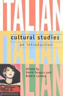 Italian Cultural Studies