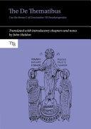 The de Thematibus   on the Themes   of Constantine VII Porphyrogenitus