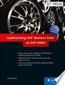 Implementing SAP Business Suite on SAP HANA
