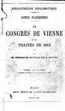 Le Congrès de Vienne et les traités de 1815